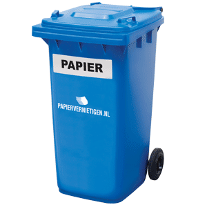 Open papiercontainer